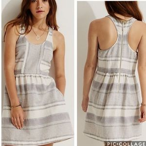 EUC Lou and Grey striped racerback linen dress